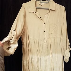 NWOT  boutique gorgeous distressed bottom tunic